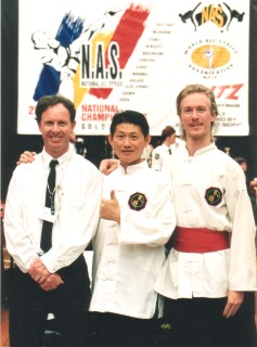 Shifu Richard Nicholls, Master Ian Lee and ShiGong Jason King from Brisbane Kung Fu