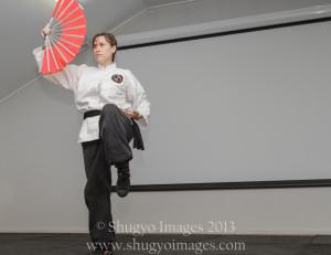 Shonika performing Shaolin Fan